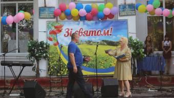 Жителів Крутої Балки вітали полтавські артисти