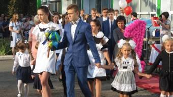 Найбільше першокласників уЦаричанській опорній школі