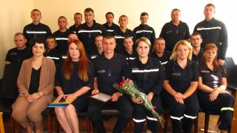 Привітали рятувальників