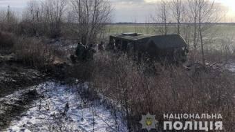 На Полтавщині в кювет злетіла вантажівка з військовими