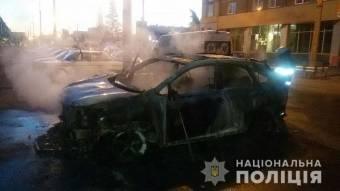 У Кременчуці згорів Lexus – поліція підозрює підпал
