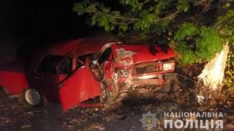 На Миргородщині ВАЗ зіткнувся з деревом