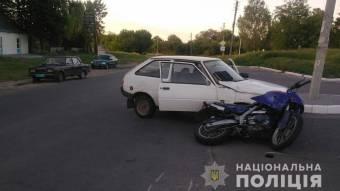 У Шишаках зіткнулися ЗАЗ та мотоцикл
