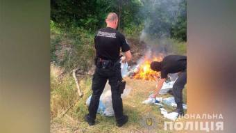 На Полтавщині спалили наркотиків на понад мільйон гривень