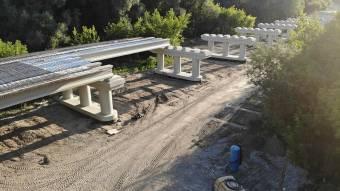 На новому мосту біля Гадяча почали заливати плиту