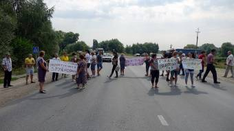 Чергове перекриття дороги: Чкалове залишається без газопостачання