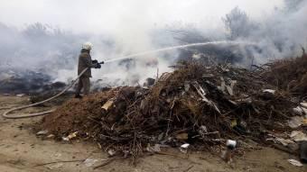 У Гадяцькому районі горіло стихійне сміттєзвалище