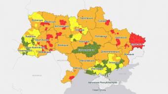 Полтава — у «червоній» зоні, Кобеляцький і Новосанжарський райони — у «помаранчевій»