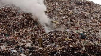 Під Полтавою знову горіло сміттєзвалище