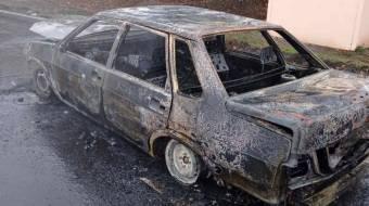 У Лубенському районі згорів автомобіль