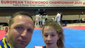 Юна спортсменка-дніпрянка здобула «бронзу» на Чемпіонаті Європи з тхеквондо