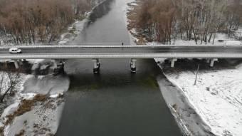 Закінчили роботу над мостом через річку Псел біля Гадяча