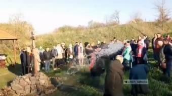 У Харківській області священних провів «експрес-освячення» на Пасху