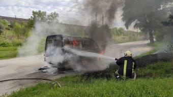 У Кременчуцькому районі згорів автомобіль «ГАЗель»