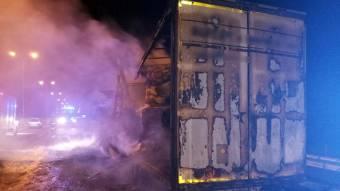 На трасі у Великобагачанській ОТГ згоріла вантажівка