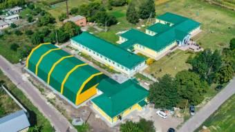 У Коломацькій школі відкрили новозбудований спорткомплекс