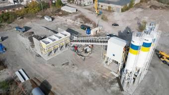 Для будівництва мосту в Кременчуці змонтували бетонний завод
