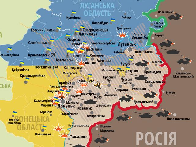 Ситуація на сході країни станом на 12 00