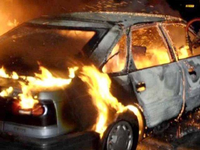 На Іршавщині згоріла іномарка