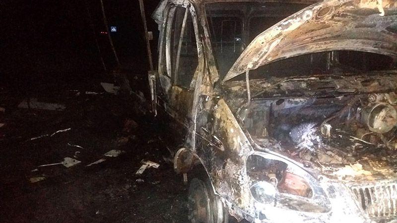 На «Оріані» загорілася вантажівка із нафтопродуктами