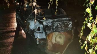 У Полтаві згорів автомобіль Nissan