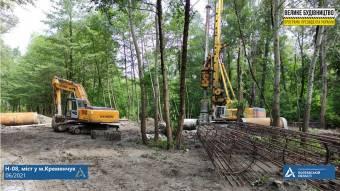 У рамках будівництва мосту у Кременчуці уже випробували буронабивні палі