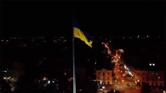 У Полтаві здійснили пробний підйом найбільшого прапора області