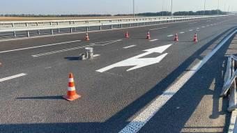 Триває нанесення розмітки на перетині автошляхів М-22 Полтава – Олександрія та Н-31 Дніпро – Решетилівка