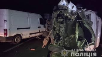 Біля Лубен зіткнулися два мікроавтобуси – одна людина в лікарні